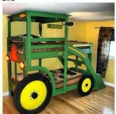 I want this for my boys' room, maybe a fire truck or a backhoe would be really cool too!