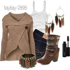 """""""Fall Fashion: Western"""" by taytay-268 on Polyvore"""