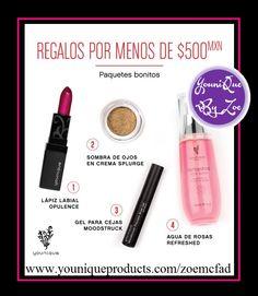 gifts under $500 mxn #younique #splurge #mexico #rosewater #maquillaje #belleza #creamshadows #browgel