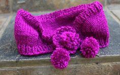 Ear warmer headband Cerise pink ear warmer  Knit by KennaInAfrica, $21.50