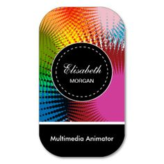 Multimedia Animator- Colorful Abstract Pattern Business Card Templates