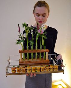test tube bud vases and appetizers