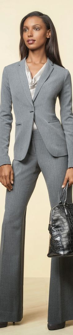 """""""The Scandal Collection"""" from The Limited / Narrow Lapel Pinstriped Jacket and Liv Flare Leg Trouser Pant"""