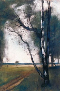 The Athenaeum - Birches at the Edge of the Forest (Lesser Ury - No dates listed)