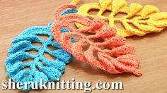 3D Crochet Leaf Tall Stitches Tutorial 28 ~ Part 2 of 2 Crochet Volumetric...~ **Free Crochet Tutorial**