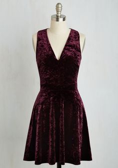 Attraction to Action Dress in Merlot, #ModCloth