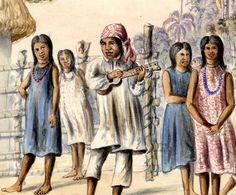 Indios sáliba bailando, provincia de Casanare