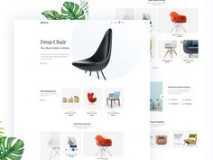 Furniture Website Home page by Sourabh Barua on Dribbble Web Design, Page Design, Logo Flat, Website Home Page, App Landing Page, Ecommerce Shop, Sofa Home, Best Web, Shopping Websites