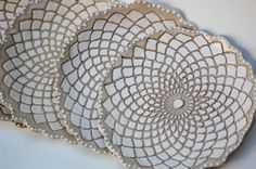 "ceramic ""lace"" dishes"