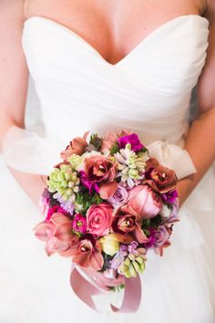 Elegant bouquet: http://www.stylemepretty.com/canada-weddings/british-columbia/vancouver/2015/04/02/colorful-spring-wedding-inspiration-at-stanley-park-chapel/   Photography: Vivid Moments - http://www.vividmoments.ca/