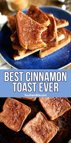 The Best Cinnamon Toast Ever! This is seriously the Best Cinnamon Toast you'll ever make! With just a few pantry ingredients, you'll have the perfect breakfast or snack for any time! It's so quick and easy, too! What's For Breakfast, Quick And Easy Breakfast, Perfect Breakfast, Breakfast Dishes, Breakfast Recipes, Easy Breakfast Ideas, Breakfast Snacks, Brunch Ideas, My Recipes