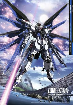The ZGMF-X10A Freedom Gundam (aka Freedom, X10A) is a mobile suit that appears…