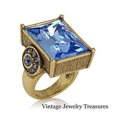 "HSN Heidi Daus ""Fabulous Rocks"" Blue Crystal Ring Size 6 New In Box #HeidiDaus"