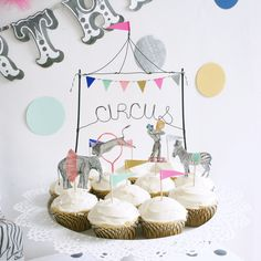 Circus Cake Toppers by Wonderful Collective