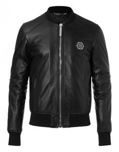 """bomber jacket """"i don't care"""" - Jackets - Clothing - Men   Philipp Plein"""