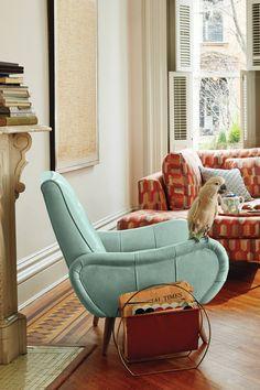 Linen Losange Chair - anthropologie.com