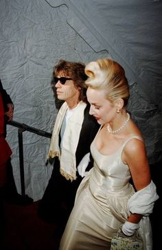 Jerry Hall looking gorgeous with Mick Jagger