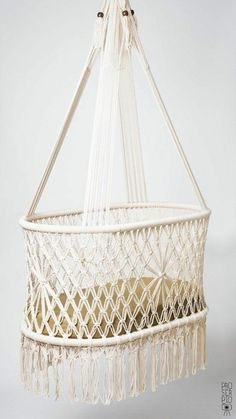 Preorder of hanging swinging baby cradle in macrame oval shape cream color cotton ropes high quality quot;x quot; fair trade 10 ways to get your baby to sleep without getting in the car