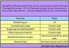 Long Lean and Leggy Workout circuit