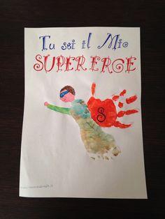 Festa del papà, disegni con mani e piedi, idee da fare con i bambini - father's Day ideas -http://www.cookandcraft.it/festa-del-papa-idee-lavoretti/
