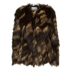 $90, Dark Brown Fur Jacket: Vila Faux Fur Jacket By. Sold by Look Again. Click for more info: http://lookastic.com/women/shop_items/119003/redirect