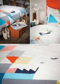 Geometric Gullfuglen bedding from funkelshop