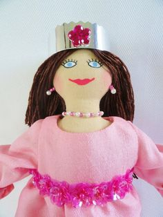 Princess Doll in Pink  OOAK Cloth Doll by JoellesDolls, $35.00 Handmade toy for girls
