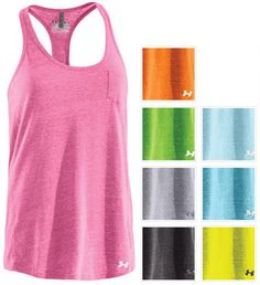 Under Armour womens charged cotton tank. I prefer cotton to any other material when working out. Lets the skin breathe!