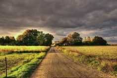 Country road in late afternoon under lowering skies (Sweden) by Marie Andersson cr.c.