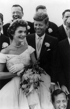 September 12, 1953 John F. Kennedy and Jacqueline Bouvier at their Wedding