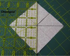 Cutting Fabric Square - Quartering