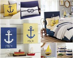 Pottery Barn Kids Inspiration for Navy + Yellow Nautical Baby Shower