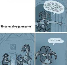 Skyrim humor - http://videogamedirectory.net/?s=skyrim