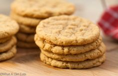 Gluten free Peanut Butter cookies, just four ingredients!