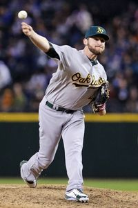 Ryan Cook. Oakland A's. 2012 All-Star. True story! I met this man!
