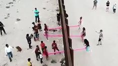 Seesaw at US-Mexican border lets children defy President Donald Trump The Wall Show, Mexico Pictures, Human Rights Activists, Us Border, State Of Arizona, Seesaw, Playgrounds, Us Presidents, Beautiful Wall