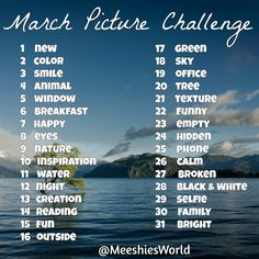 Meeshie's World: March Picture Challenge
