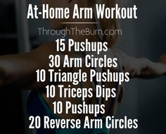 At-Home Arm Workout exercise to get rid of those flabby arms and tone them up!