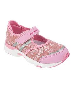 Another great find on #zulily! Pink Sakura Strap Sneaker by TSUKIHOSHI #zulilyfinds