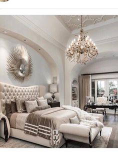 Luxury House Interior Design Tips And Inspiration Dream Rooms, Dream Bedroom, Home Bedroom, Bedroom Decor, Warm Bedroom, Bedroom Wall, Master Bedroom Design, Bedroom Inspo, Luxury Master Bedroom