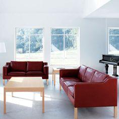 Borge Mogensen sofa in red...amazing