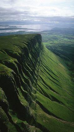 The greens of Ben Bulben, County Sligo, Ireland