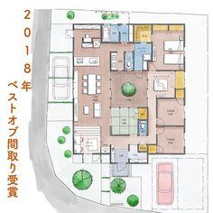 いいね!2,289件、コメント6件 ― madree(マドリー)さん(@madree.jp)のInstagramアカウント: 「【 2018ベストオブ間取り大賞。 】 * さて、マドリーは2月14日からスタートし、 今日まで「ほぼ」毎日投稿してきましたー!👍 * * 今回はその中で、…」 Exterior Design, Interior And Exterior, Floor Plan Sketch, Interior Garden, Japanese House, House Layouts, House Plans, Interior Decorating, Floor Plans