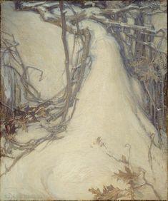 Ozias Leduc (1864-1955), L'heure mauve, 1921 ,Huile sur papier marouflé sur toile, 92,4 x 76,8 c, Musée des Beaux Arts de Montréal