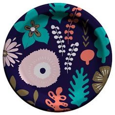 40ct Cheeky Floral Snack Plate