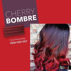 CherryBombre is a delicious trend we can get behind. | Hair Color | Red Hair | Ombre | Salon Color | #WhatsYourColorPersonality