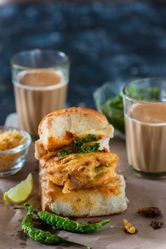 Vada Pav is one of the famous Mumbai street food and most favorite roadside snack. Mumbai vada pav, own desi Indian burger is sandwich in which batata vada