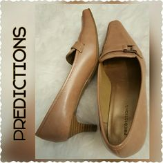 Predictions Nude Pumps Nude Kitten Heels Pumps  (about 2 inches), Pointed Toe Style, Worn but Good Condition predictions  Shoes