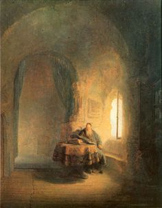 Rembrandt Harmenszoon van Rijn: Philosopher Reading, 1631.