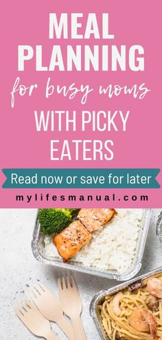 Meal Planning on a budget for busy moms and picky eaters kids. Get the meal planning printables for beginners. Meal planning guide, feeding picky eaters guide, slow cooker recipes and meal planning templates like weekly meal plan, pantry inventory, family favorite recipes and more. Click to view the meal planning printables, recipes and guide. #mealplan #pickyeaters #food